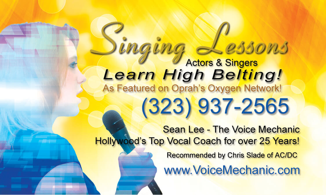 The Voice Mechanic - Hollywood Singing Lessons - Vocal Classes - Belting - Breath Support - Voice Projection